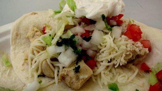 chicken taco at serrano's mexican restaurant