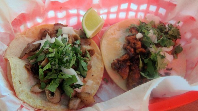 self-dressed tacos from tacos la villa