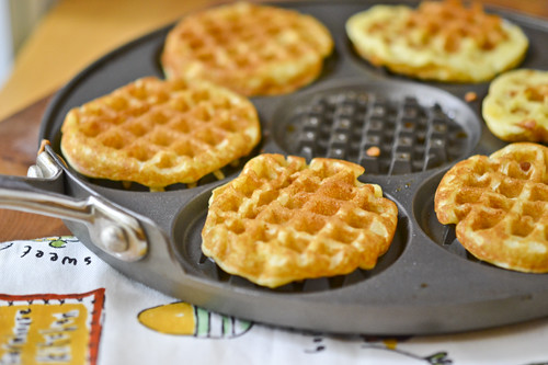 Waffles with Honey-Caramelized Peaches 13