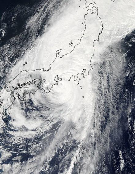 Typhoon Roke Japan - NASA Goddard
