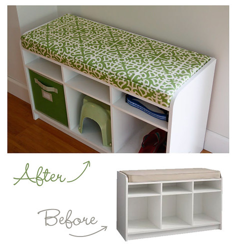 We Purchased This Martha Stewart Cubbie Storage Bench From Home Depot To  Put Right Inside The French Doors In The Great Room.