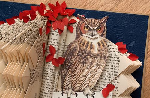 Altered Books Great Horned Owl-2