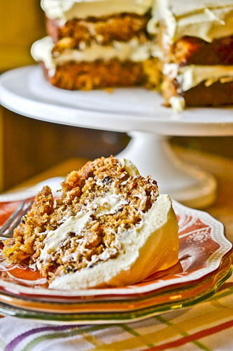 Pumpkin Spice Cake with Cream Cheese Frosting 9