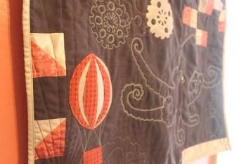 Steampunk Octopus Quilt Hot Air Balloon Version
