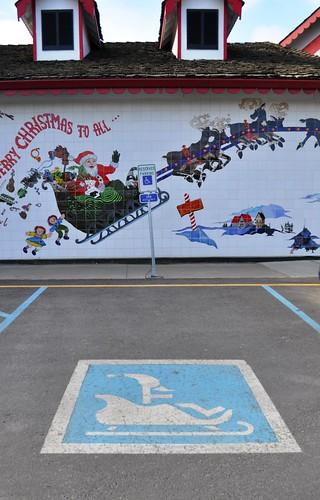 Santa's Handicap Parking Spot, Santa Claus House, North Pole, Alaska