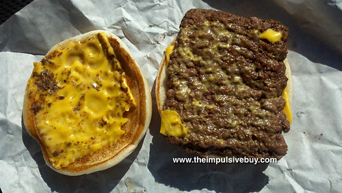 Wendy's Dave's Hot 'N Juicy Cheeseburger Innards