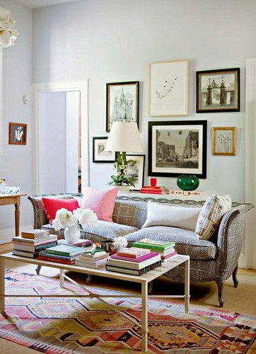 Rita Konig green glass living room