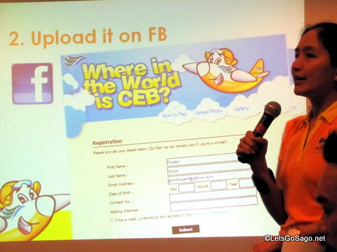 Upload CEB in Facebook
