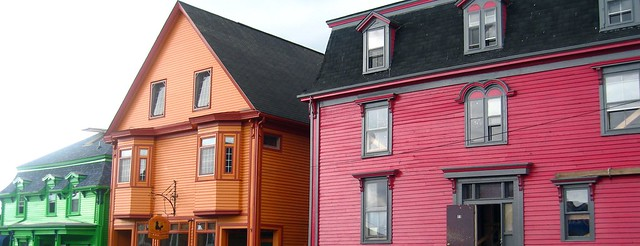 Brightly coloured houses in Lunenburg