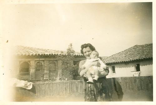 En la terraza del castillo