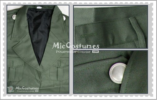 Hetalia Axis Powers England Cosplay Costume1