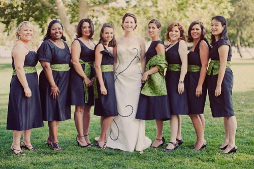 Dorian and her bridesmaids