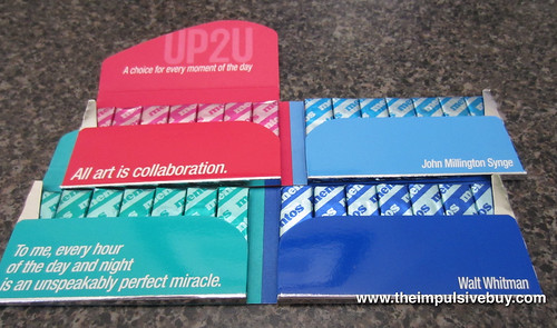 Mentos UP2U Gum (Sweet Mint/Bubble Fresh and Daylight Mint/Mintnight Mint) Inside Packs