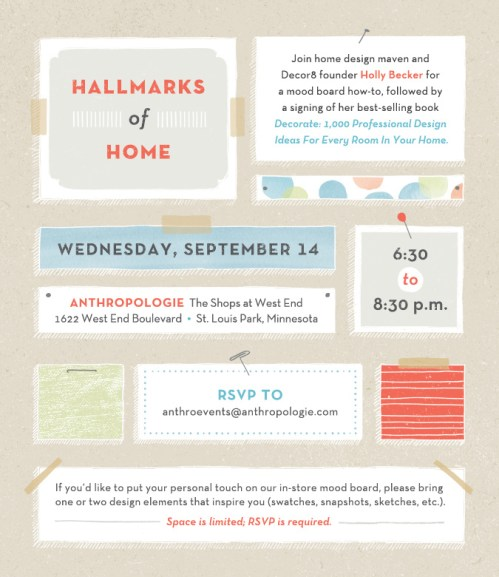 Meet Me at Anthropologie in St. Louis Park, MN on 9/14!