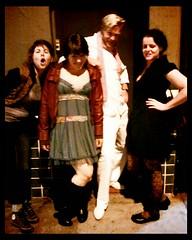 Monica, Victoria, Petter & Heather pre-Pizzaiolo gig