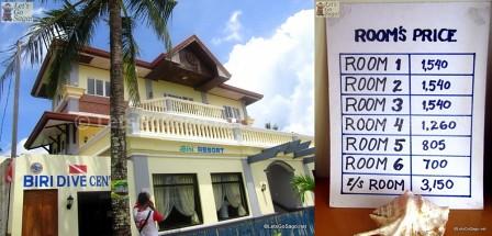 Biri Resort with Room Rates