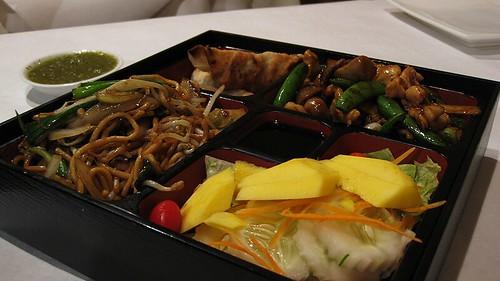 szechuan chicken bento box