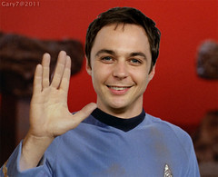 Jim Parsons Gives Vulcan Salute