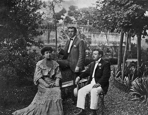 Retrato en el jardin