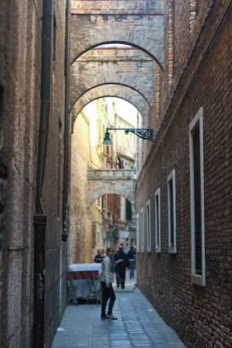 A narrow alleyway, Venice, Italy