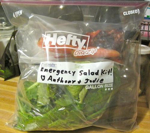 An Emergency Salad Kit makes it easy to take salad fixins somewhere