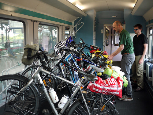 Bike carriage on a German train.
