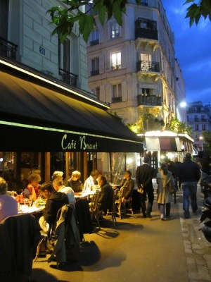 Enjoying Cafe Life at a Paris bistro