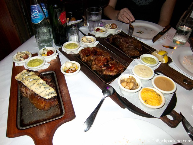 Our spread of steaks
