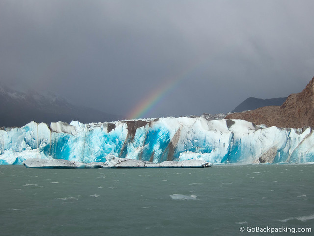 The deep blue colors in the ice left everyone in awe