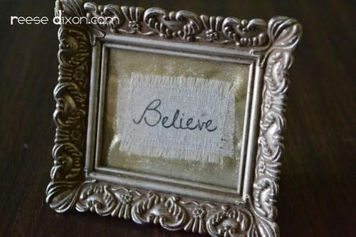 Believe Frame Step 6