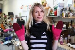 Astrosatchel Winterluxe cashmere mittens