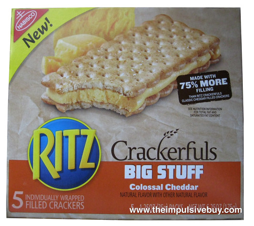 Ritz Crackerfuls Big Stuff Colossal Cheddar