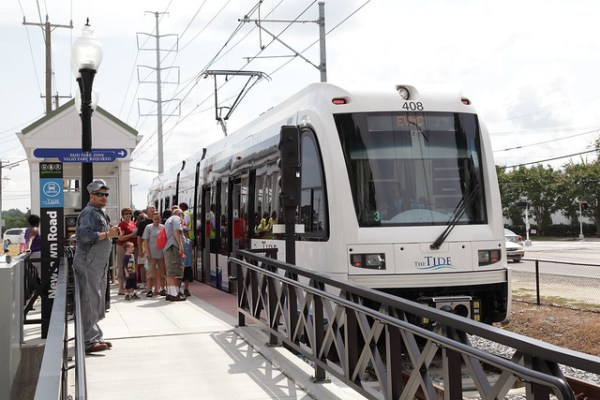 Grand Opening of The Tide light rail system in Norfolk, Virginia