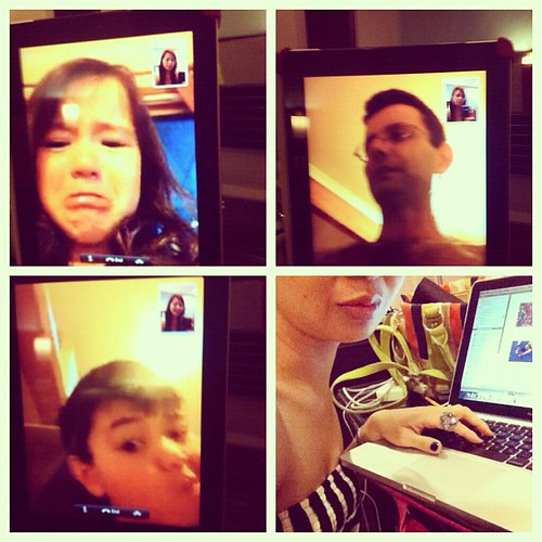 The different faces of family video calls...