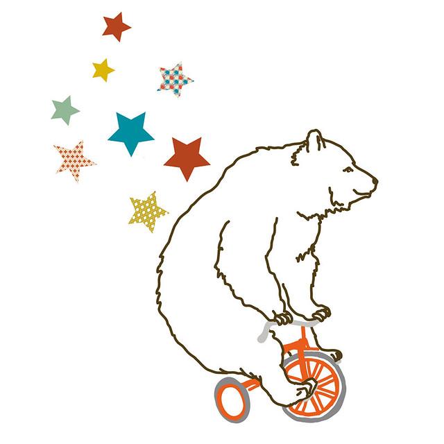 Mimi Lou bear wall sticker