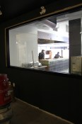 The window into the open kitchen from the River Market