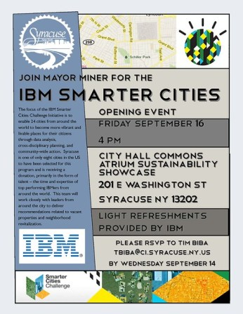 Syracuse - IBM Smarter Cities Grant
