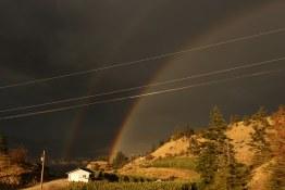 Double rainbow all the way - Okanagan Crush Pad