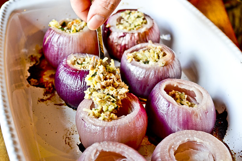 Sausage-Stuffed Red Onions 14