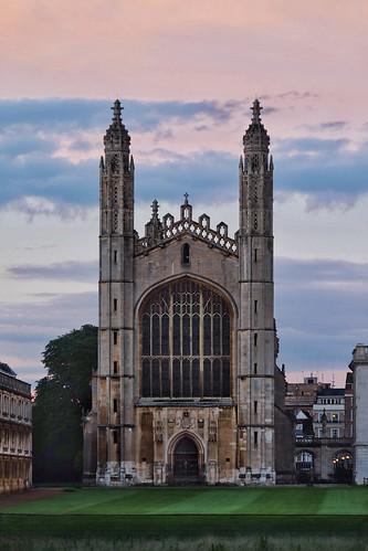Pastel skies behing the King's College Chapel