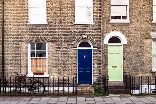 Blue and green #DoorsOfCambridge