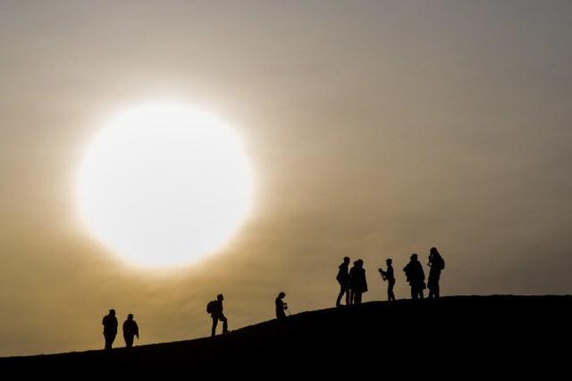 Big sun over Kite Hill