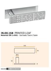 IN.00.158 PRINTED LEAF