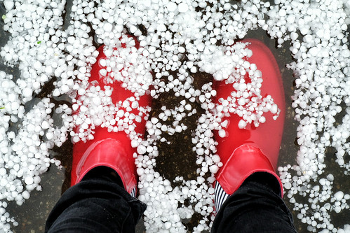 Hail and floods in Cambridge