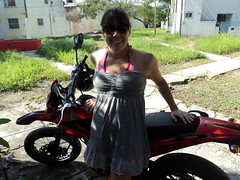 Jen with Motorcycle