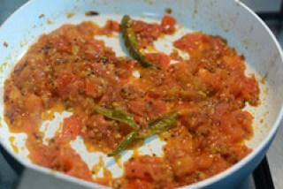 tomato rice recipe, south indian style tomato rice recipe-7