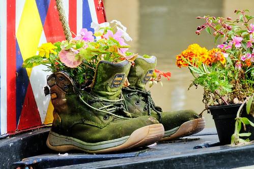 Flower pot boots