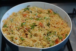 tomato rice recipe, south indian style tomato rice recipe-11