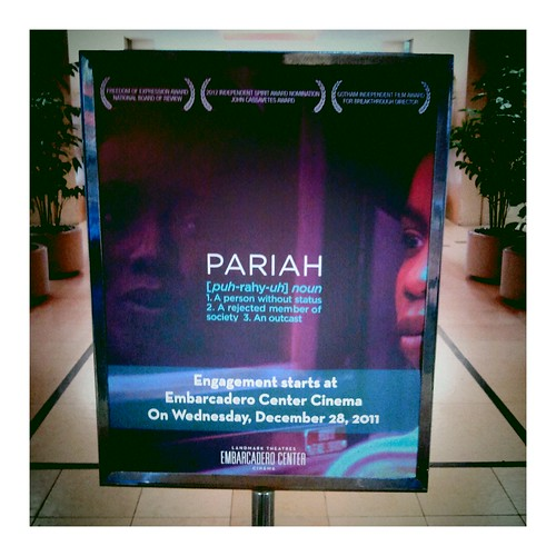Pariah sign outside Embarcadero Center Cinema