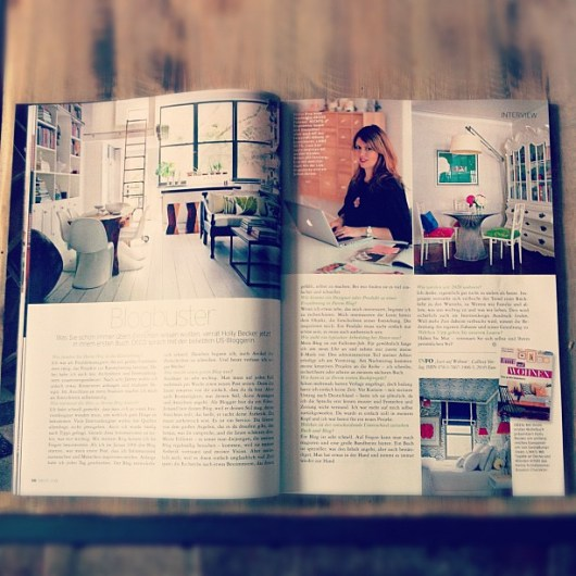 Me in Deco Home magazine (Germany)